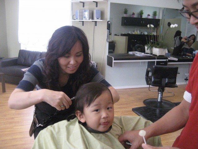 First hair cut First lollipop!